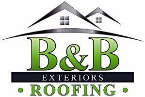 b&b roofing and exteriors logo
